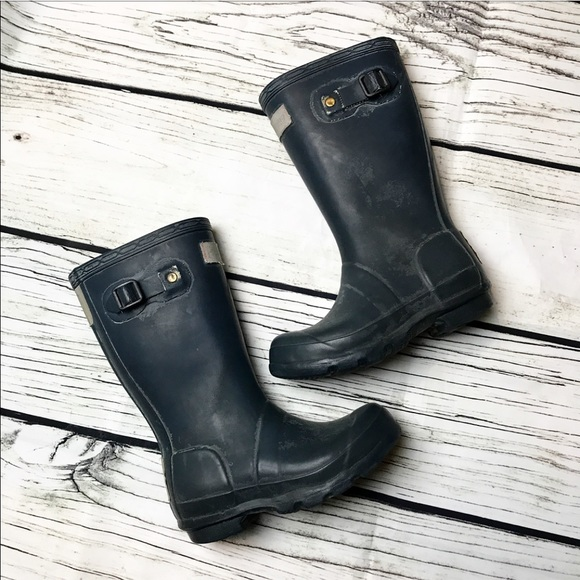 Hunter Other - Hunter Navy Little Girls Rain Boots Tall Size 12 8ae11720ef24